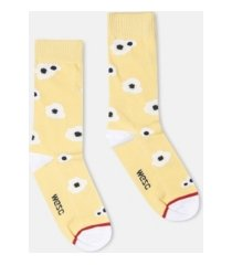 wesc kennedy big poppy crew socks, 2 pack