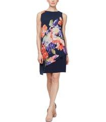 sl fashions asymmetrical-overlay dress