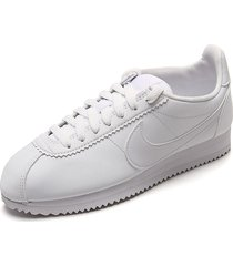 tenis lifestyle blanco nike classic cortez leather