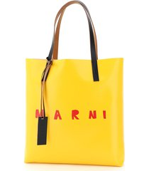 marni pvc coated tote bag with logo