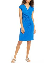 women's tommy bahama carmela faux wrap dress, size x-large - blue