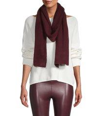 portolano women's ribbed merino wool-blend oblong scarf - bordeaux