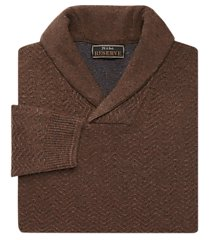 reserve collection wool blend shawl collar herringbone men's sweater clearance