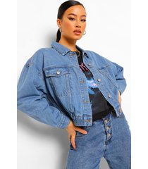 oversized bomberjack van denim, vintage wassing