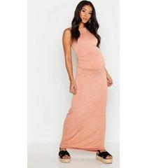 zwangerschapsmaxi-jurk met racerback, poederroze