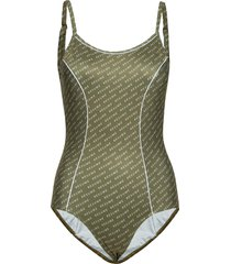 mansion swimsuit baddräkt badkläder grön résumé