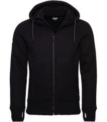 superdry men's expedition zip through hoodie jacket
