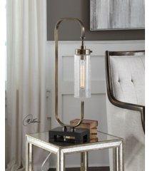 uttermost keltie seeded glass desk lamp