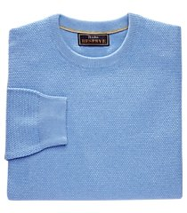 reserve collection tailored fit cotton & cashmere crewneck men's sweater - big & tall