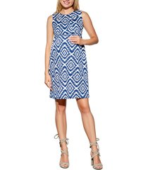 women's maternal america 'vintage' textured maternity dress, size x-small - blue