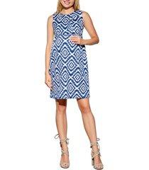 women's maternal america textured maternity dress, size x-small - blue