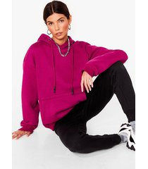 womens we're on track pullover hoodie - cherry