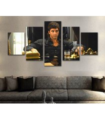 large framed scarface gangster al pacino canvas print wall art home decor