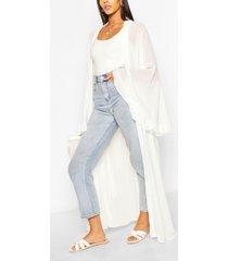 maxi kimono met wijde mouwen, wit