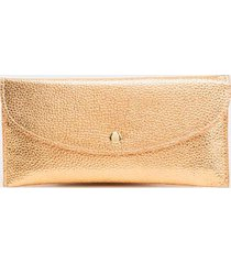 sue basic rectangle snap wallet in rose gold - rose/gold