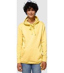 sweatshirt dress in geel