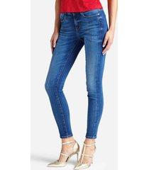 jeansy z efektem znoszenia fason skinny