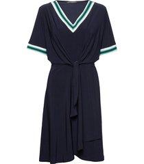 dress short 1/2 sleeve jurk knielengte blauw betty barclay