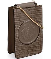 bolsa tiracolo capodarte logo marrom