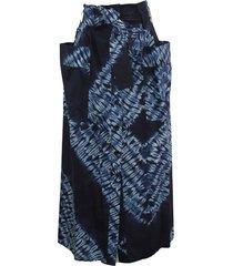 parosh belted waist cotton skirt