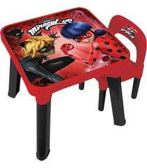 ladybug mesa com cadeira - fun divirta-se