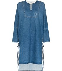 loewe denim tunic shift dress - blue