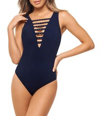 amoressa by miraclesuit women's romancing the stone veracruz one-piece swimsuit - new moon - size 8
