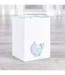 lixeira bebe branco amiguinhos unicã³rnio azul grã£o de gente azul - azul - dafiti