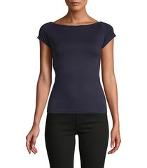 helmut lang women's boatneck top - ink - size xs/s