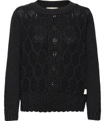 alessandra sweater gebreide trui cardigan zwart odd molly