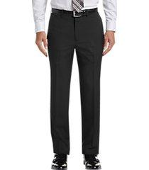 haggar premium comfort black 4-way stretch slim fit dress pants