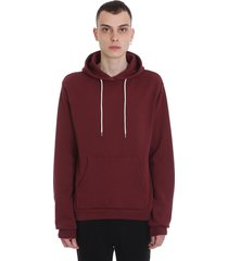 john elliott hoodie beach sweatshirt in bordeaux cotton