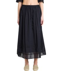 tory burch embroidered long skirt