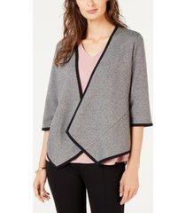 alfani drape-front cardigan, created for macy's