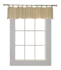 versailles home fashions bamboo wood ring top valance