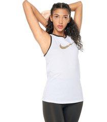 camiseta esqueleto blanco-negro-dorado nike nk dry tank dfc glam dunk