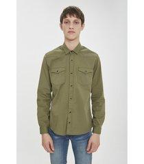 camisa verde airborn cowboy