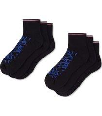 tommy hilfiger men's 6-pk. logo athletic quarter socks