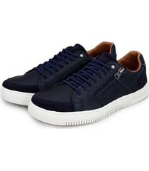 sapatênis br2 footwear couro zíper lateral macio masculino - masculino