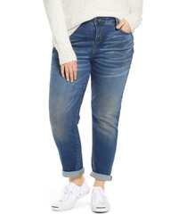 plus size women's slink jeans high waist boyfriend jeans
