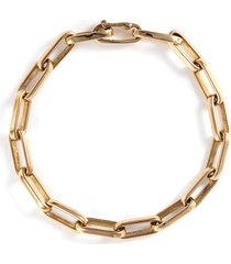 14k yellow gold chain link bracelet - large