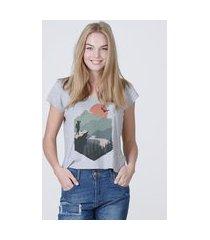 camiseta feminina mirat a montanha mescla