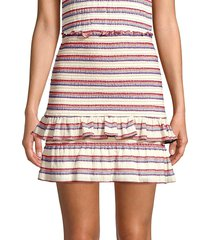 parker women's cabana stripe skirt - cabana stripe - size xl