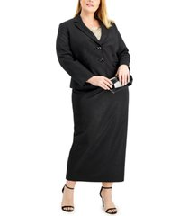 le suit plus size midi-length skirt suit