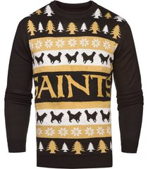 nfl new orleans saints light-up one too many ugly sweater