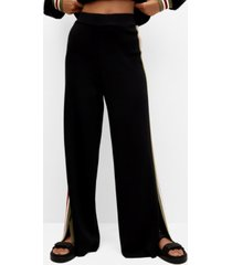 mango contrasting bands knit trousers