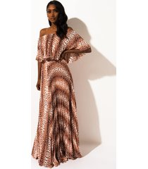 akira coasting on love pleated maxi dress