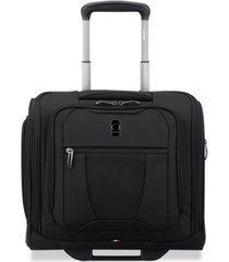 closeout! delsey helium 360 2-wheel under-seat carry-on suitcase, created for macy's