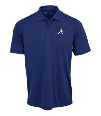 antigua men's atlanta braves tribute polo shirt