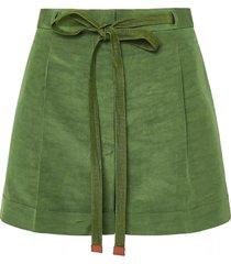 loewe loewe belted shorts in linen